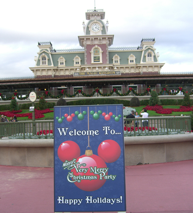 i picked up a special mickeys christmas party magic kingdom guidemap which listed all of the party entertainment showtimes the selected attractions that