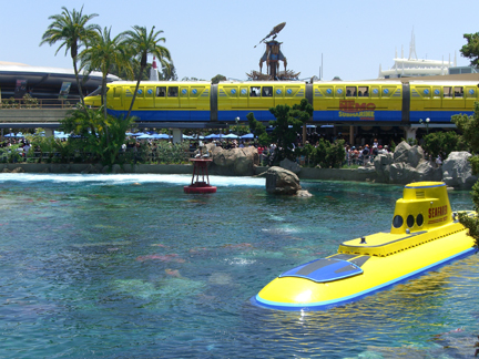 Finding Nemo monorail at Disneyland in honor of the grand opening of the Finding Nemo Submarine Voyage