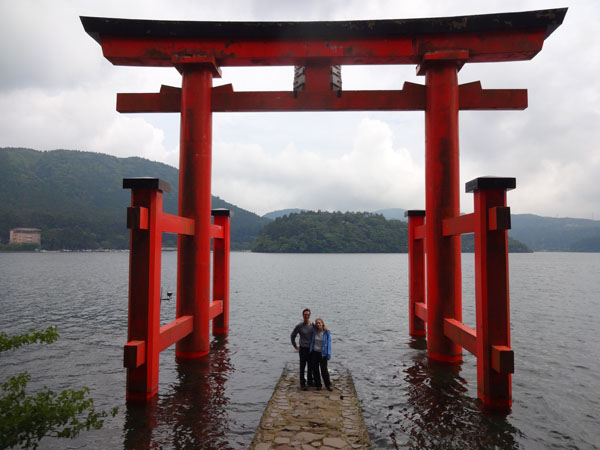 Hakone shrine torii gate on Lake Ashi (Hakone-Moto)