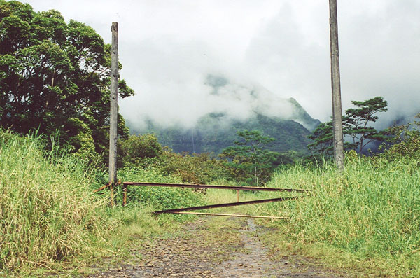 Site of Jurassic Park gate in Kauai, Hawaii