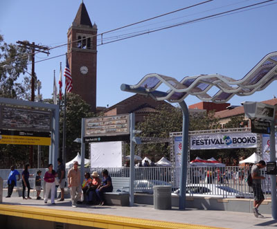 The Los Angeles Times Festival of Books is held on the USC campus. One entrance is across the street from the Metro Expo Line station.