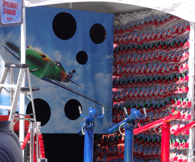 The afteparty turned preparty carnival game at Disney's Planes premiere