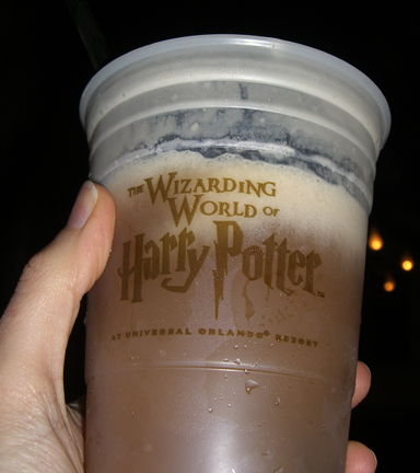 The Wizarding World of Harry Potter: frozen butterbeer